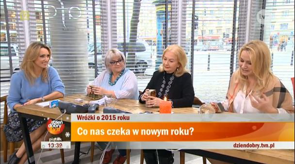 Wizyta wróżki w studio TVN